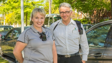 Council officers wearing body cameras