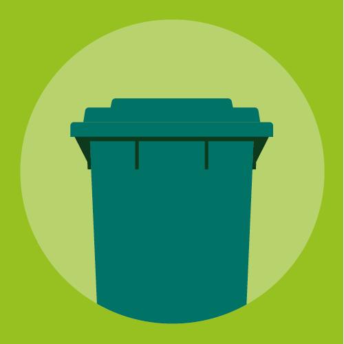 Illustration of a waste bin
